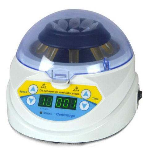 BIPEE MINI-10K Mini Desktop Laboratory Centrifuge 3000 10000RPM Adjustable High Speed Electric Centrifuge LED Display with Timer